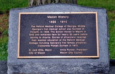 History of Macon Marker image. Click for full size.