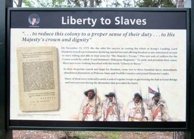 Liberty to Slaves Marker image. Click for full size.