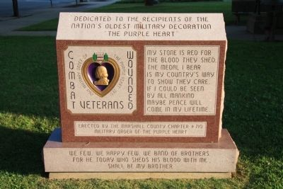 Recipients of the Purple Heart Marker image. Click for full size.