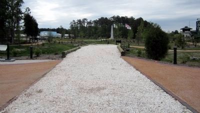 Crushed oyster shells cover the causeway. image. Click for full size.