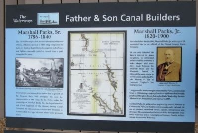 Father & Son Canal Builders Marker image. Click for full size.