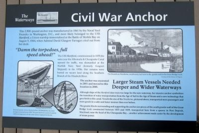 Civil War Anchor Marker image. Click for full size.