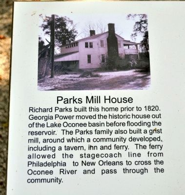 Photograph of the Parks House image. Click for full size.