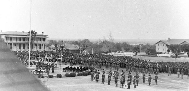2nd Cavalry Division Activation Ceremony, Fort Clark, Texas image. Click for full size.