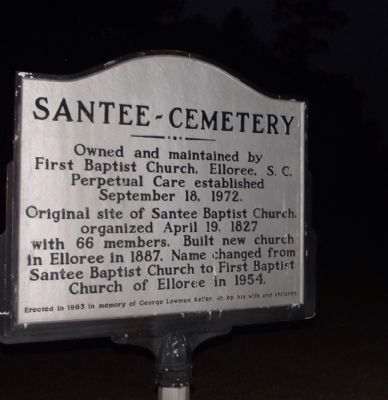 Santee~Cemetery Marker image. Click for full size.