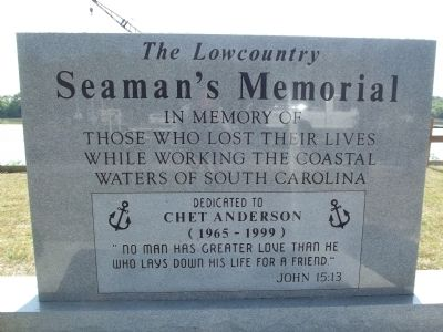 The Lowcountry Seaman's Memorial Marker image. Click for full size.