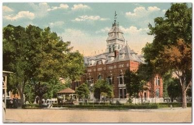 Alachula County Courthouse 1886 - 1958 image. Click for full size.