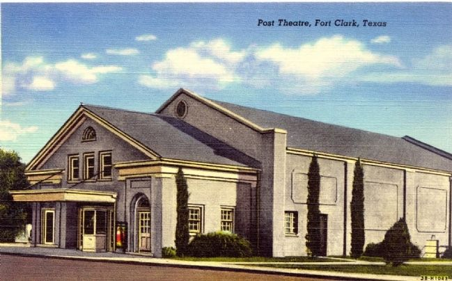 Fort Clark Post Theater Colorized Picture Postcard from the 1930s image. Click for full size.