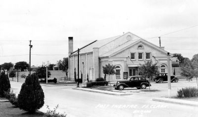 Historic view of the Fort Clark Post Theater image. Click for full size.