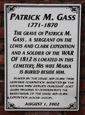 Patrick M. Gass Marker image. Click for full size.
