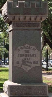 Confederate Soldier Marker, North face image. Click for full size.
