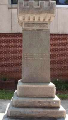 Confederate Soldier Marker, East face image. Click for full size.