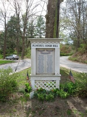 Plumtrees Honor Roll Marker image. Click for full size.
