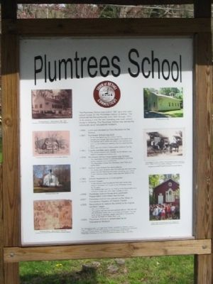 Plumtrees School Marker image. Click for full size.