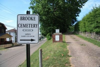 Brooke Cemetery, Site of Patrick Gass Grave image. Click for full size.