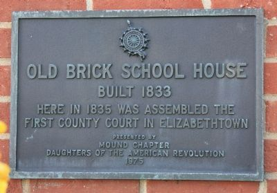 Old Brick School House Marker image. Click for full size.