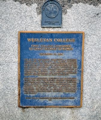 Wesleyan College Marker image. Click for full size.
