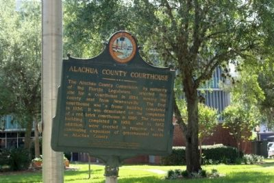 Alachula County Courthouse Marker image. Click for full size.