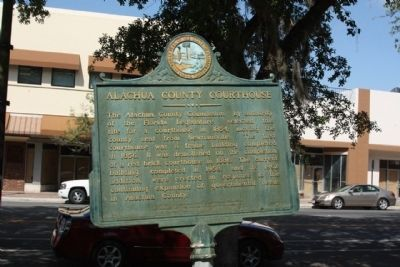Alachula County Courthouse Marker, along S Main Street image. Click for full size.