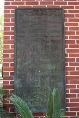 Confederate Soldiers Memorial on a nearby wall image. Click for full size.