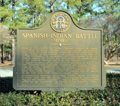 Spanish-Indian Battle Marker image. Click for full size.