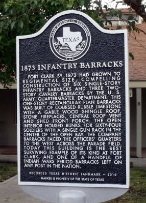 1873 Infantry Barracks Marker image. Click for full size.