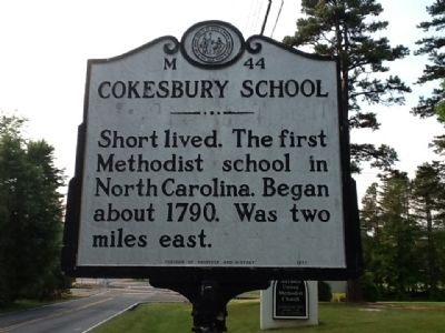 Cokesbury School Marker image, Touch for more information