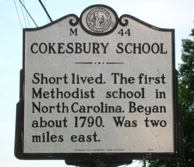 Cokesbury School Marker image. Click for full size.