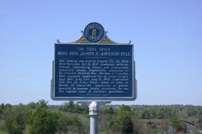 On this Spot Brig. Gen. James S. Jackson Fell Marker image. Click for full size.
