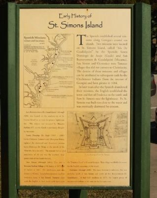 Early History of St. Simons Island Marker image. Click for full size.