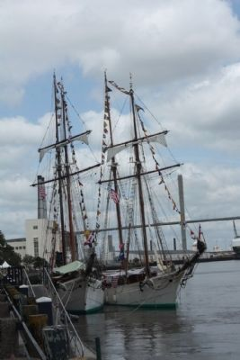 Savannah Waterfront , Tall Ships 2012 image. Click for full size.