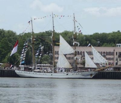 "Savannah Waterfront, Indonesia's ""Dewaruci"" ... tall Ships 2012 image. Click for full size."