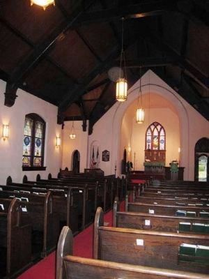 Trinity Lutheran Church interior image. Click for full size.