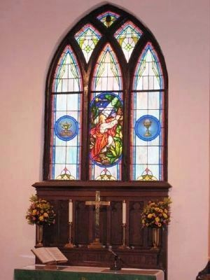 Trinity Lutheran Church Allter Window image. Click for full size.