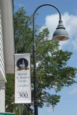 St. Helena's Church Tricentennial Banner image. Click for full size.