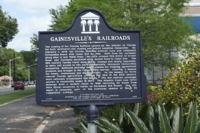 Gainesville's Railroads Marker image. Click for full size.