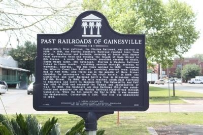 Past Railroads of Gainesville Marker image. Click for full size.