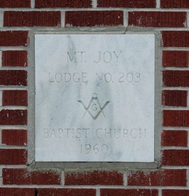 Mt. Joy Lodge Cornerstone image. Click for full size.