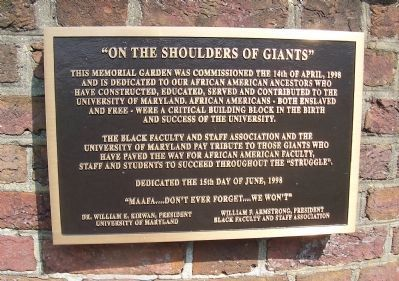 """On the Shoulders of Giants"" Marker image. Click for full size."