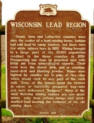 Wisconsin Lead Region Marker image. Click for full size.