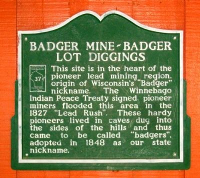 Badger Mine – Badger Lot Diggings Marker image. Click for full size.