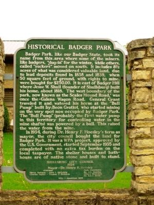 Historical Badger Park Marker image. Click for full size.