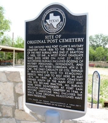 Site of Original Post Cemetery Marker image. Click for full size.