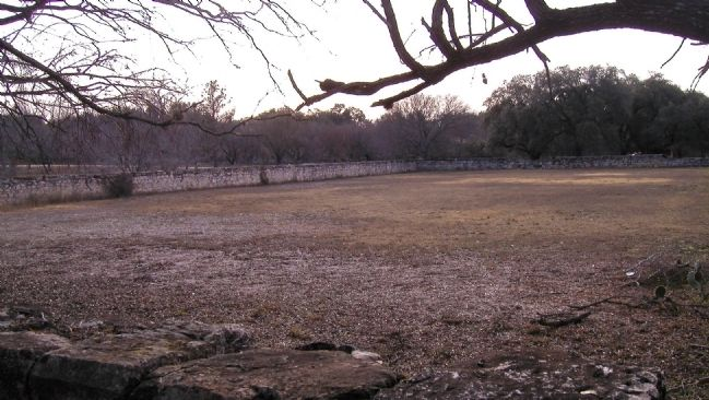 Walled enclosure of Fort Clark's original post cemetery image. Click for full size.