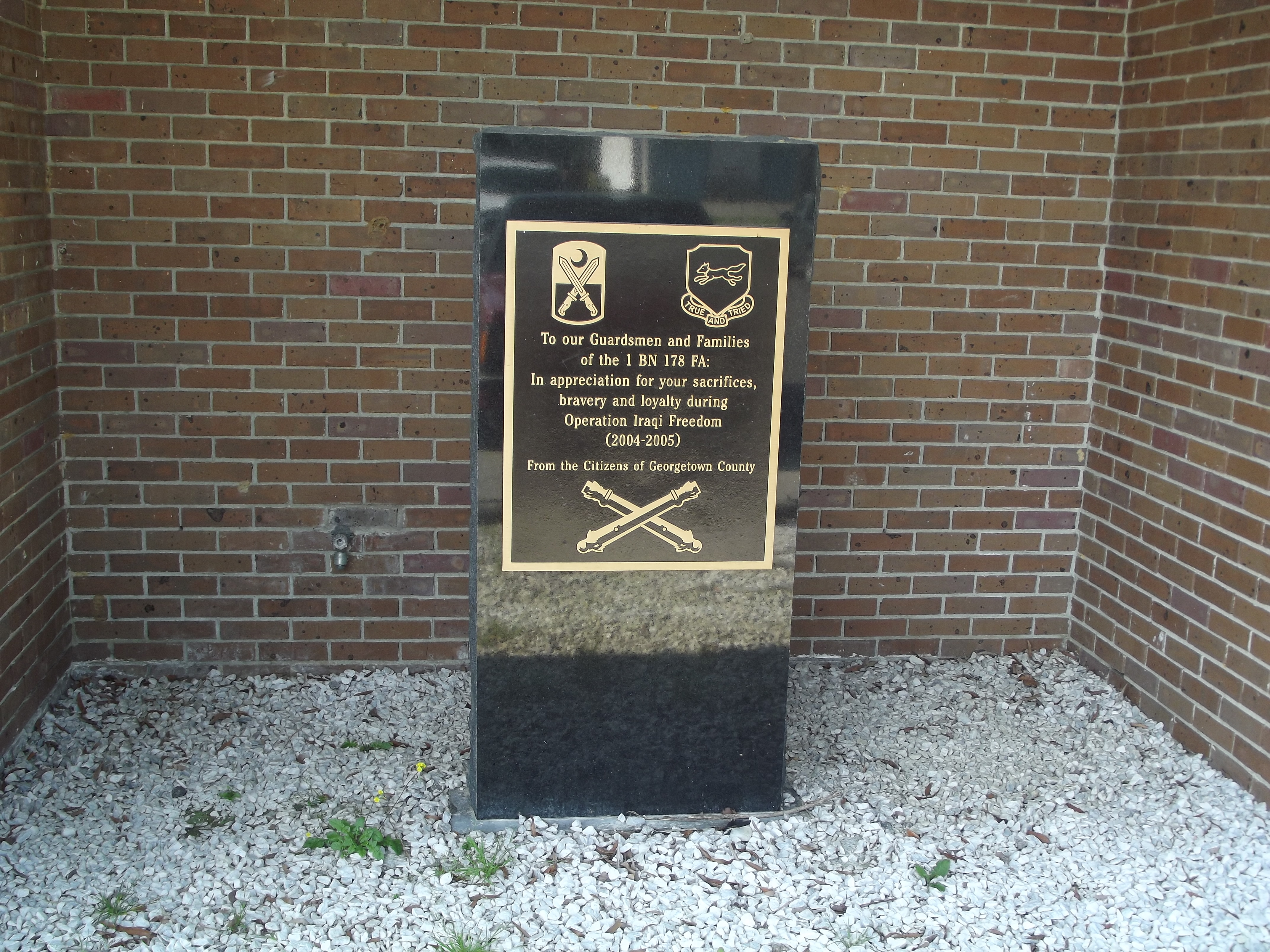 Georgetown County National Guard Memorial Marker
