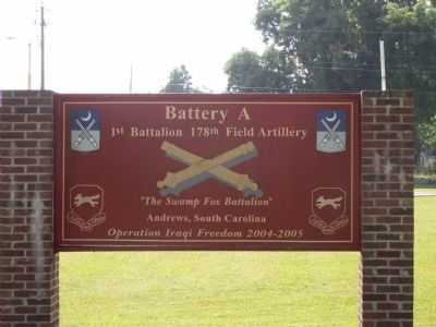 National Guard Armory Sign image. Click for full size.