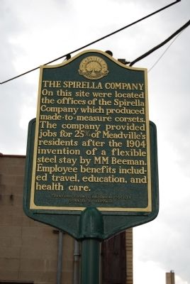 The Spirella Company Marker image. Click for full size.