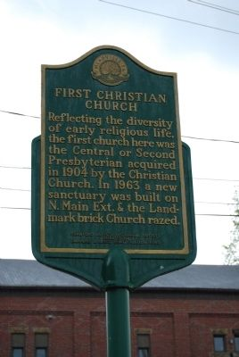 First Christian Church Marker image. Click for full size.