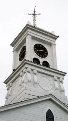 Columbia Falls Town Hall Clock Tower image. Click for full size.