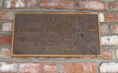 Miners Club Marker image. Click for full size.